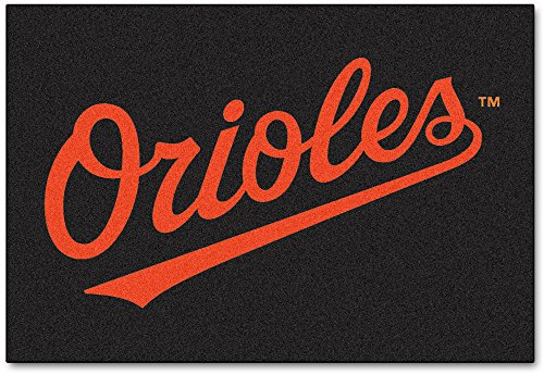Baltimore Orioles Baseball Rug Mat - Fan Mats Baltimore Orioles All-Star Rug, 34
