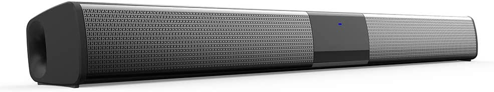 Sound Bars for TV, 22-Inch Wired & Wireless Bluetooth 5.0 Soundbar Home Theater Surround Speakers with Built-in Subwoofer, Optical AUX Coaxial Wired Input,Remote Control