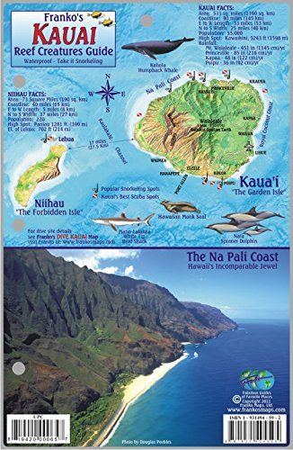 - Kauai Hawaii Map & Coral Reef Creatures Guide Franko Maps Laminated Fish Card