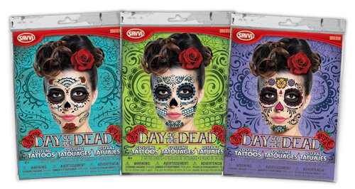 Day of the Dead Tattoos! (Bundle of Three!) ()