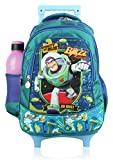 Disney School Bag With Detachable Double Stick Trolley For Boys & Girls 7+ Years Toy Story Buzz Light Year 42 (L) Dark See Green (Dat-789-03)