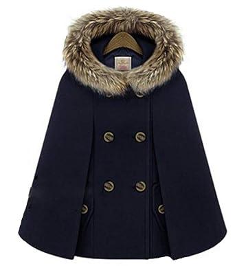 Manteau poncho hiver femme