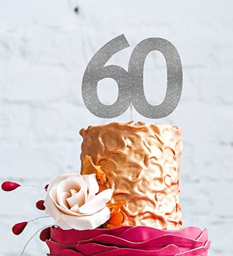 Incredible Lissielou Number 60 Cake Topper Large 60Th Birthday Cake Topper Personalised Birthday Cards Paralily Jamesorg
