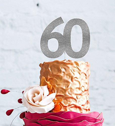 LissieLou Number 60 Cake Topper Large