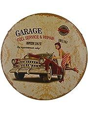 Amuzocity Metall runda plåtskyltar sedan 1963 vintage bil garage reparation – #1