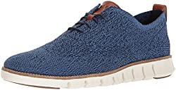 Cole Haan Men's Zerogrand Stitchlite Oxford, Riversidemarine Blueivory, 10 Medium Us