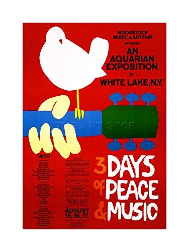 MUSIC FESTIVAL CONCERT WOODSTOCK NY PEACE DOVE LOVE LEGEND FRAMED (Concert Art)