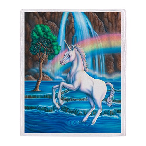 CafePress - Rainbow Unicorn - Soft Fleece Throw Blanket, 50