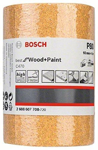 Bosch 2 608 607 708 - Rodillo lijador - 93 mm, 5 m, 80 (pack de 1) 2608607708