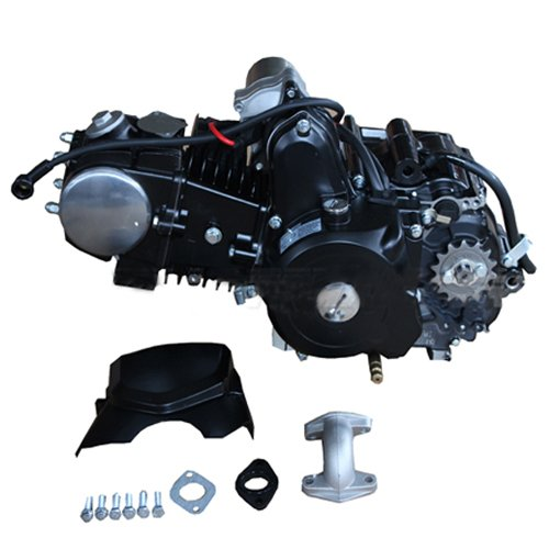 125cc 4-stroke Engine with Automatic Transmission w/Reverse, Electric Start for 50cc 90cc 110cc 125cc ATVs & Go Karts Coolster, Taotao, Roketa, Kazuma,Terminator, Lynx, Redcat, Tank etc. ()
