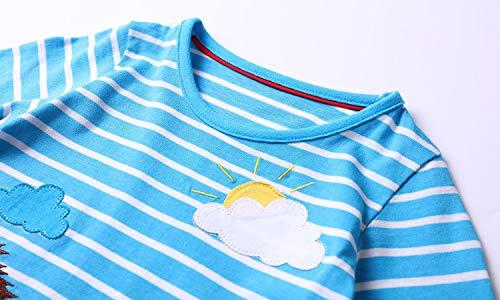 Lemonkid Bébé Filles Robes De Dessin Animé Manches Longues Robe T-shirt Rayé