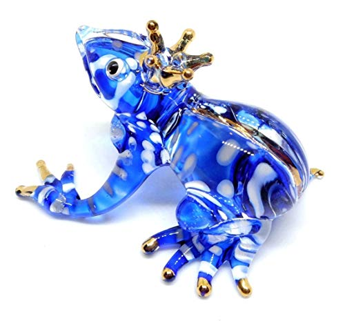 Handmade Frog Art Glass Blown Reptiles Animal Figurine - No.2 ()