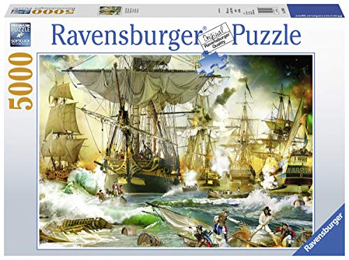 Ravensburger 13969 Battle on The High Seas - 5000 Piece Puzzle for Adults, Every Piece is Unique, Softclick Technology Means Pieces Fit Together Perfectly (Piece 5000 Puzzle)