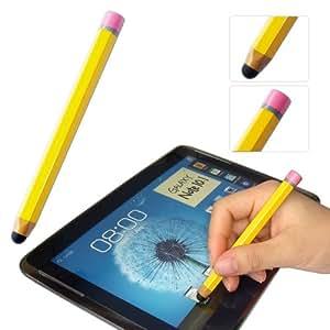 First2savvv amarillo lápiz-con forma de cama de matrimonio y lápiz capacitivo para HTC One mini