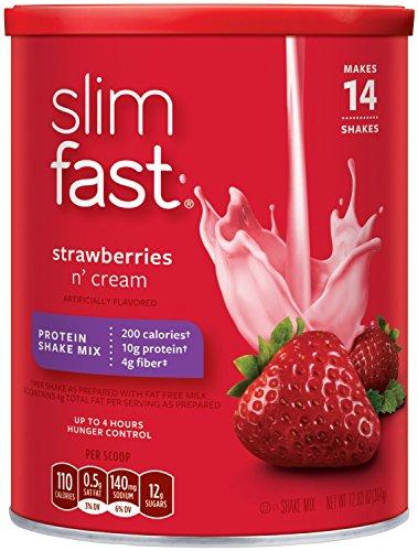 Perte de poids Slim-Fast de Shake Mix, 12,83 onces (Strawberry suprême, Paquet de 1)