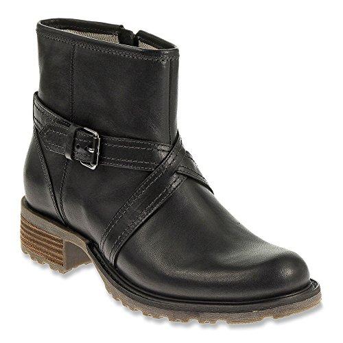 Sebago Saranac Strap Low 6 5 Boot Black Leather Womens Size Urq5U