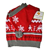 Lookin Good Holiday Dog Sweater - Red (12 Pack)