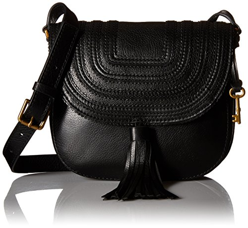 Fossil EMI Tassel Saddle Bag, Black