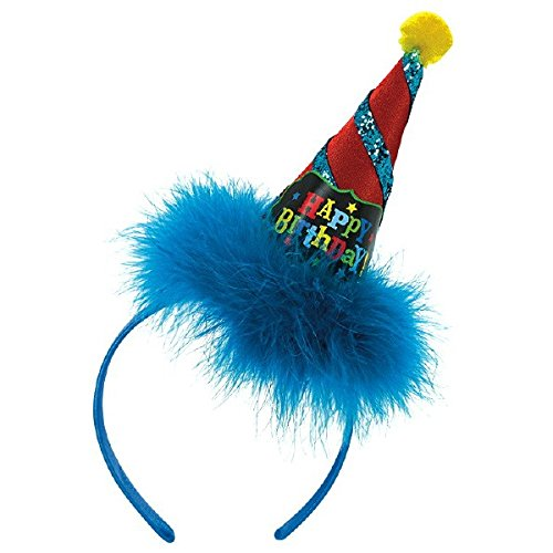 Amscan 396759 Birthday Brights Cone Hat Headband Accessories Party Supplies Multicolor