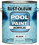 Rust-Oleum 270183 Acrylic Pool and Fountain Paint, 1-Gallon, Black, 2-Pack