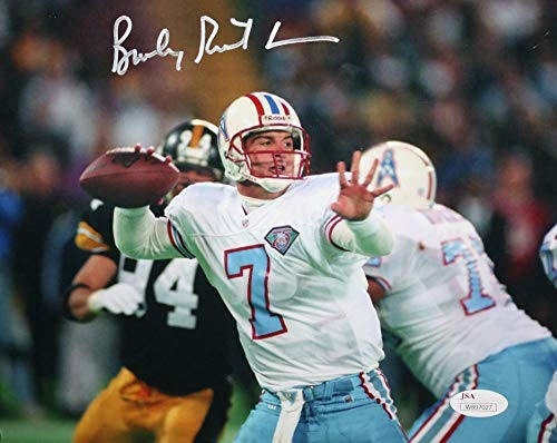 (Autographed Bucky Richardson Signed 8x10 Photo Oilers Passing- JSA Certified)