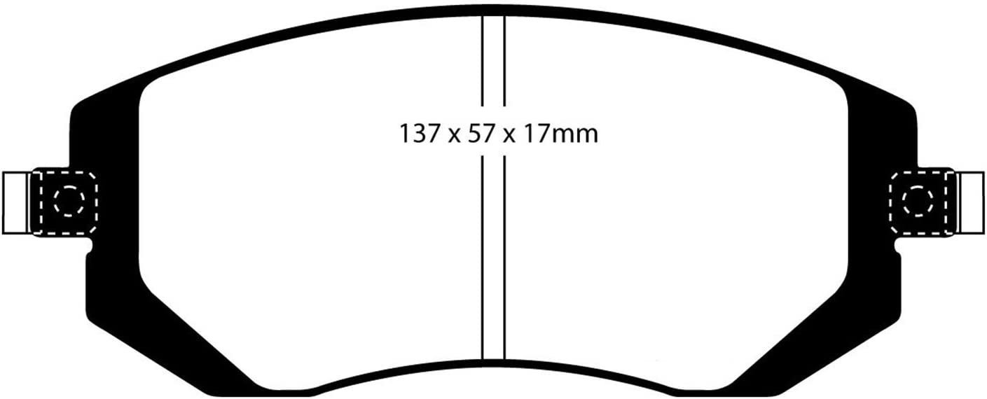 EBC Brakes DP31661C Redstuff Ceramic Low Dust Brake Pad