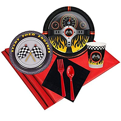 Racecar Racing Party Supplies - Party Pack for 16 Guests