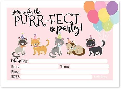 Amazon.com: 25 Invitaciones de cumpleaños para niños o ...