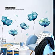 Wall Mural Decal for Living Room, Plants Wall Stickers as Wall Decor for Bedroom | Removable Stickers for Wall