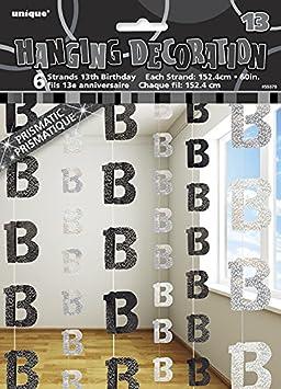 Banderole de 1er Anniversaire Bleue Glitz Unique Party 91951 2,7 m