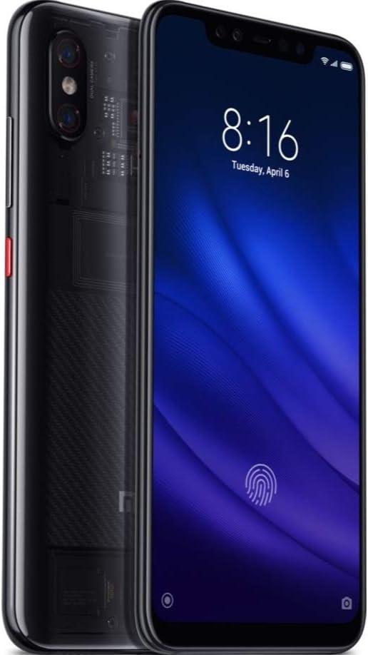 Xiaomi mzb7000eu Mi 8Pro Smartphone 15,9cm (6,26Pulgadas), 8+ 128GB, cámara Dual, 12MP, Huella Dactilar en la Pantalla Trasparent Negro