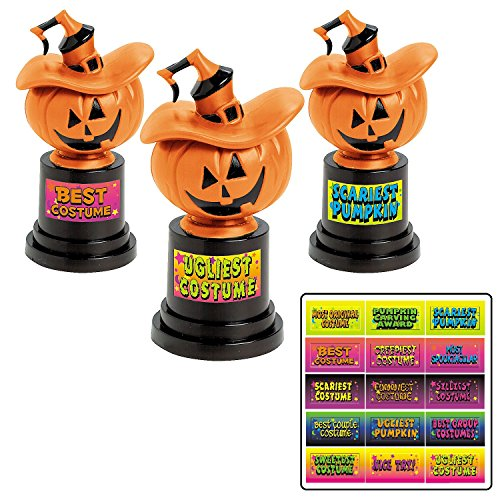 Most Original Halloween Costumes (Halloween Jack-O-Lantern Costume Contest Trophies Trophy - 12 ct)