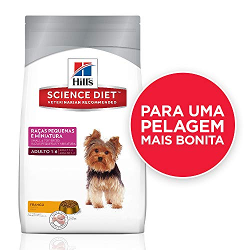 Ração Hill's Science Diet para Cães Adultos - Raças Pequenas e Miniatura - 1kg