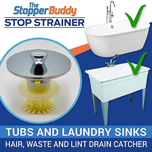 The Stopper Buddy Stop Strainer Bathtub Hair Catcher Laundry Sink Drain  Lint Drain Protector Hair Strainer ...