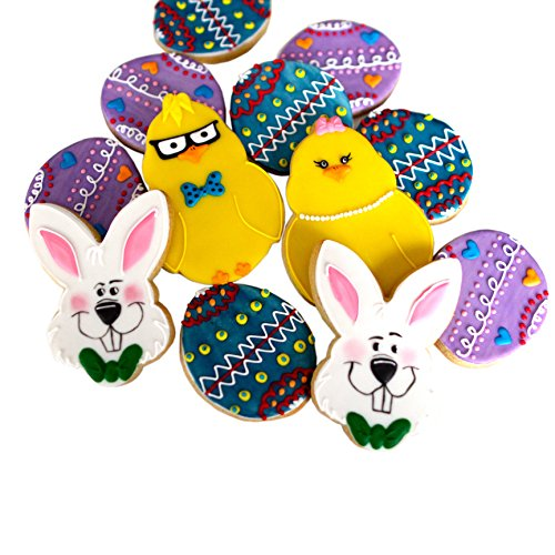 decorated easter cookies - ½ Dz. Chicks or Bunny Cookies Great for baskets, Easter, Place settings and more