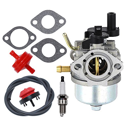 801396 Carburetor with Primer Bulb Fuel Filter Gaskets Spark Plug for Briggs & Stratton 801233 801255 Snow Blower Thrower Toro R-TEK 2-Cycle Engines 084132 084133 084233 084332 084333 by HUZTL