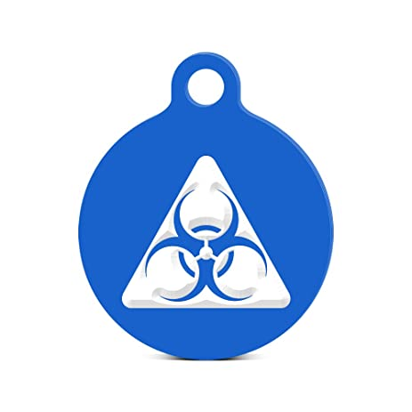 Amazon Biohazard Symbol Round Keychain With Tab Engraved Bio