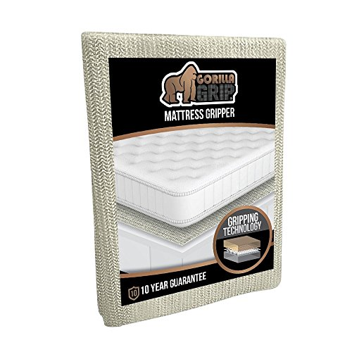 Place Pads Boxes - Gorilla Grip Original Slip Resistant Mattress Gripper Pad, Helps Stop Bed + Topper from Sliding, Stopper Works on Sofa, Futon, and Couch, Easy to Trim Size, Strong, Durable Grips Help Slipping (King)