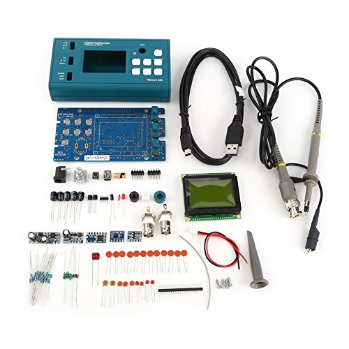 (Digital Storage Oscilloscope DIY Kit Disassembled Parts with LCD 20MHz Probe Teaching Set Single Channel)
