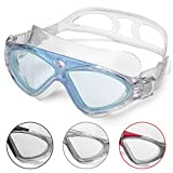 Swimming Goggles Adult Anti Fog No Leaking Clear Vision UV Protection Easy to Adjust...