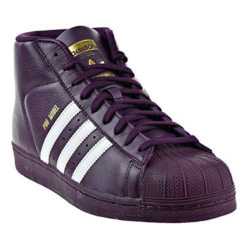 Adidas Man Pro Modell, Vit / Super Lila / Guld Metallic, 8,5 M Oss Rednit / Ftw Vit / Guld