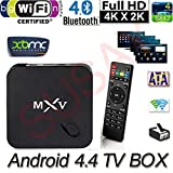SUSAY(TM) [2016 new arrivals] SUSAY MXV MX5 TV Box Fully loaded Add-ons and KODI Amlogic S805 Quad Core Google Android 4.4.2 Kitkat H.265 Wifi LAN Best Streaming Media Player