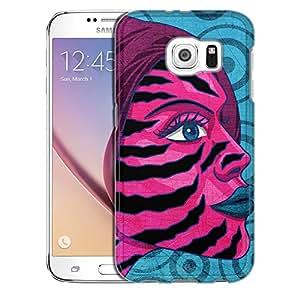 Samsung Galaxy S6 Case, Slim Snap On Cover Zebra Woman Case
