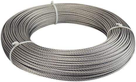 c19f83a7ddcd Muzata Stainless Steel Wire Rope 1/8