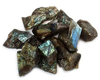 Hypnotic Gems Materials: Bulk Rough Labradorite Stones from Madagascar - Raw Natural Crystals for Cabbing, Tumbling, Lapidary, Polishing, Wire Wrapping, Wicca & Reiki Crystal Healing