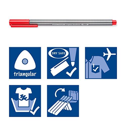 Staedtler 334 Triplus Fineliners Roll-Up Set Assorted Colours - Pack 48 by Triplus (Image #5)
