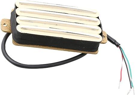 Amazon _ 4コイル ハムバッカー ギターピックアップ エレキギターパーツ 全4色 - 黄色 _ エレキギターピックアップ _ 楽器
