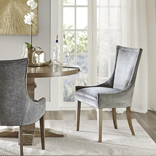 MADISON PARK SIGNATURE Ultra Dining Side Chair Set of 2 Dark Gray See Below