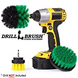 3 Rotary Power Scrub Brushes for Tile, Grout, Shower, Tub, Sink Hard Water Stains
