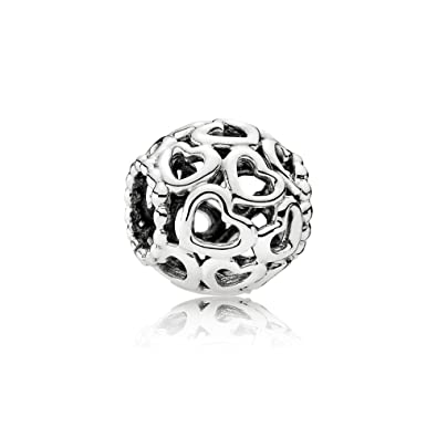 Amazon.com  Pandora Open Your Heart Silver Charm 790964  Bead Charms   Jewelry 01d3750147e9